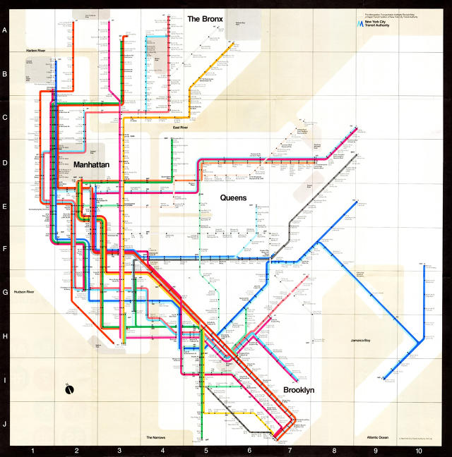 Vignelli NYC map